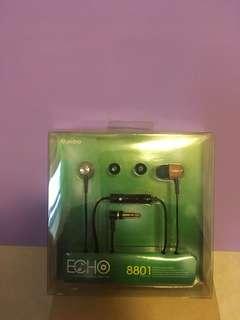 🚚 aibo ECHO 8801 木紋質矽膠耳塞式立體聲耳機
