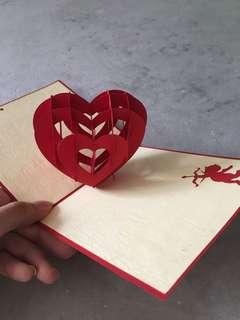 [POP UP] LOVE Card - Red Heart