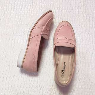 bellagio pink pastel loafers