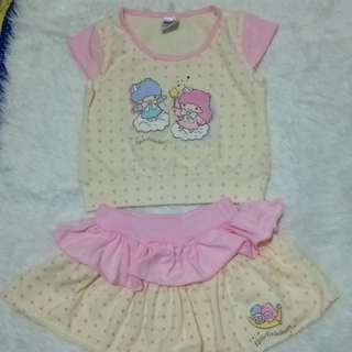 Little twin stars Skirt Set