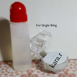 K : Transparent Box/Casings For Rings Pendants Earrings