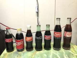 可口可樂玻璃樽未開17 支不散賣送兩塊鉄盤