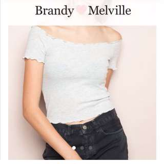 Brandy melville off shoulder top