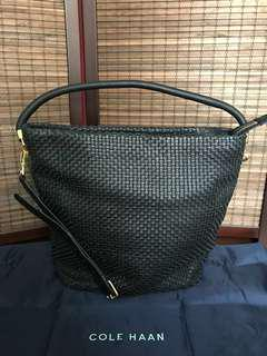 Authentic Cole Haan Woven Bucket Hobo