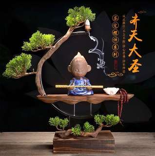 Blue WuKong Backflow Incense Burner