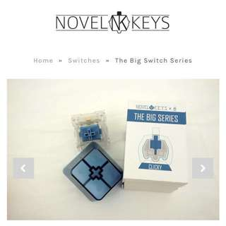 Novelkeys Big Switch - Blue Clicky