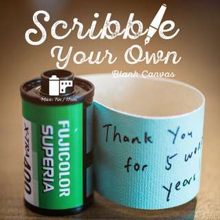 🚚 Scribble-Your-Own Scroll Cards with your own Handwritten Message. Made with real analog films. Perfect for Anniversaries, Birthdays and more!