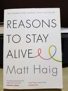 Reasons to stay alive (Matt haig)