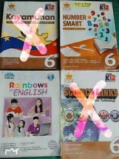 Used textbooks for grade 6, grade 3, grade 2 grade 1
