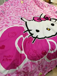 queen size hello kitty bed sheet