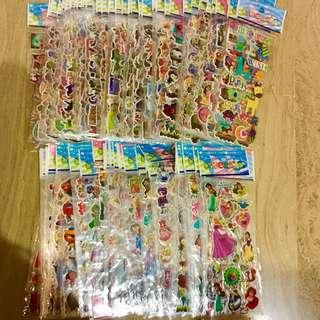 Children Birthday Goodie Bags stickers