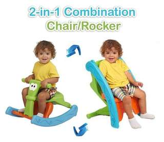 2 IN 1 COMBINATION CHAIR/ROCKER