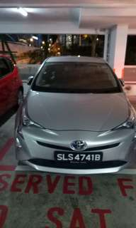 Grab-ready toyota prius (hybrid) for rent 13th to 21st Aug