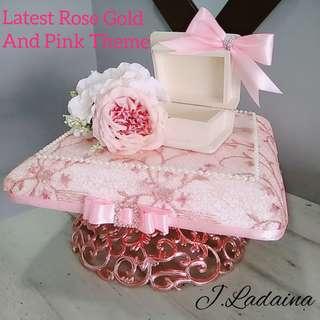 Rose gold gubahan hantaran rental service