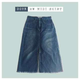 (repriced) hw midi skirt