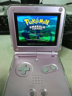 Gameboy Advance SP AGS-101 with Pokemon Emerald