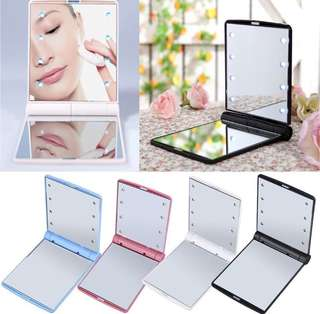 LED foldable pocket portable Mirror