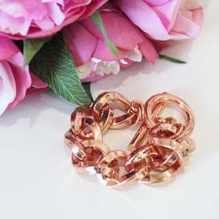 Mimco Nebula Rose Gold Chain Bracelet