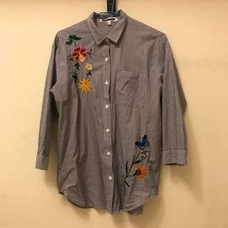 🚚 H:CONNECT刺繡條紋襯衫#女裝半價拉