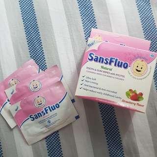 SansFluo Natural Tooth & Gum Wipes