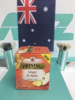 🚚 🇬🇧英國Twinings 唐寧  蘋果薑茶 10包