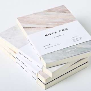 [IN] A5 marble notebook