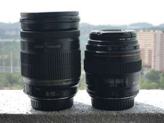 Combo Canon lens 85mm/18-200mm