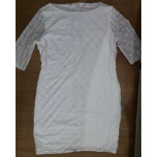 UNICA HIJA WHITE LACE DRESS