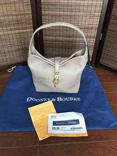 Authentic Dooney & Bourke Logo Lock Shoulder Bag