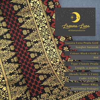 Laxana Luna: Prada Gold Songket Sarawak LLCP05