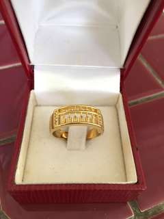 Gold Plated Abacus Ring