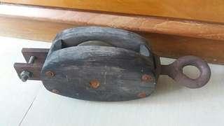 舊帆船零件,木,鐵,銅