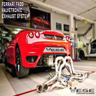 FERRARI F430 VALVETRONIC EXHAUST SYSTEM Race Header + high flow test pipe