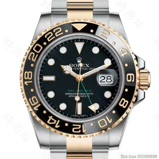 ROLEX 116713LN_BLACK GMT-MASTER II OYSTER 40MM STEEL AND YELLOW GOLD