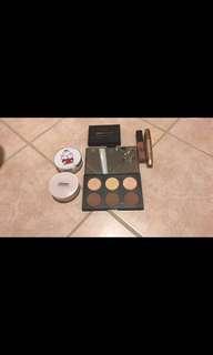 Makeup bundle including cushion,mascara, contour palette