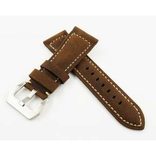 26mm Saddle Brown Calf Leather Watch Strap