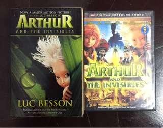 Arthur & The Invisibles Novel + FREE DVD