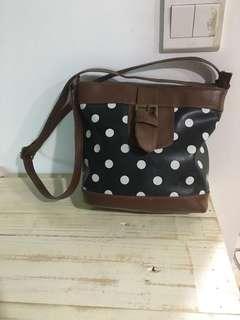 Polka dot bag sling bag