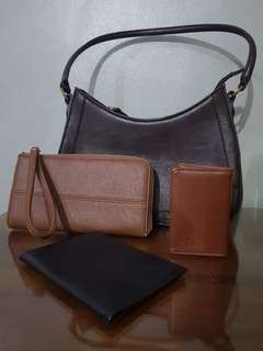 Bundle: leather bag and wallet UPDATED!!