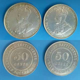 King George V Half Dollar 1920 & 1921