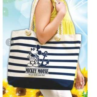 日本直送米奇老鼠水手袋 Mickey Mouse Marine Tote Bag