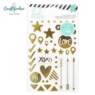 🚚 ★Stickers★ HEIDI SWAPP Hello Beautiful Foil Chipboard Stickers