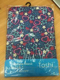 "Toshi Nylon Polyester 15"" Reversible Laptop Sleeve"