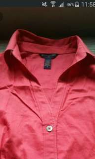 Red longsleeves polo
