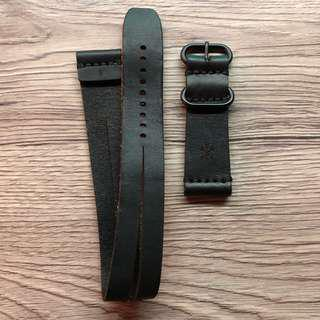 Leather Coiled Strap 24mm