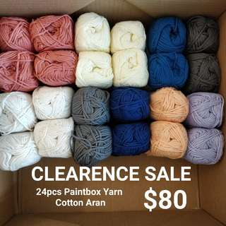 CLEARENCE - PAINTBOX YARN COTTON ARAN