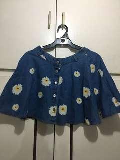 Daisies Denim Skater Skirt for 150 pesos