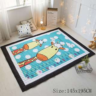 Nordic Cotton Baby Crawling Mat Cartoon Pattern Thicken Yoga Playmat Simple