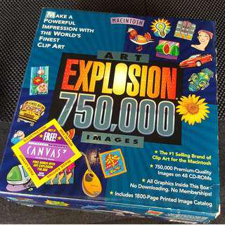 ART EXPLOSION 750,000 Clip Art and Images - For Mac / Apple