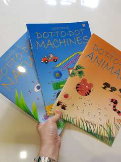 Usborne Activity book -Dot to Dot books (3 books set)